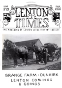 Front cover of Issue 21 - Lenton Times