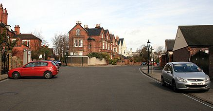 Taken at the southern end of Pelham Crescent looking back towards its junction with Barrack Lane our photograph taken by Paul Bexon in 2008 shows where Nottingham Barracks would once have been.