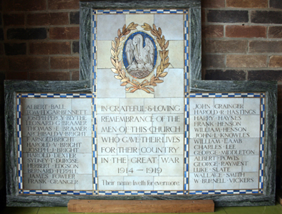 Derby Road Baptist Church - World War 1 Memorial